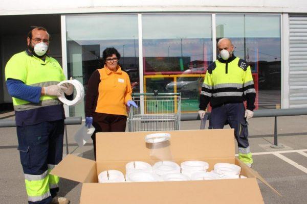 Litera Meat dona 2.000 mascarillas y 1.000 guantes al Ayuntamiento de Binéfar